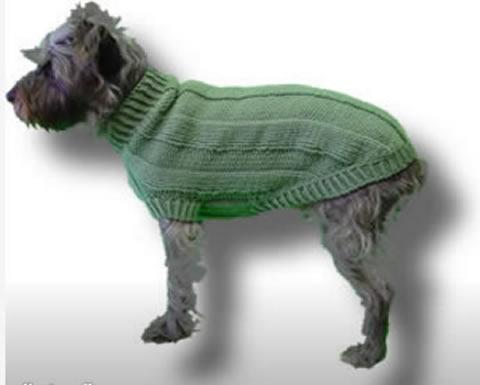 Dog Sweater Knitting Pattern Circular Needle : Original Knit Dog Sweater Patterns!