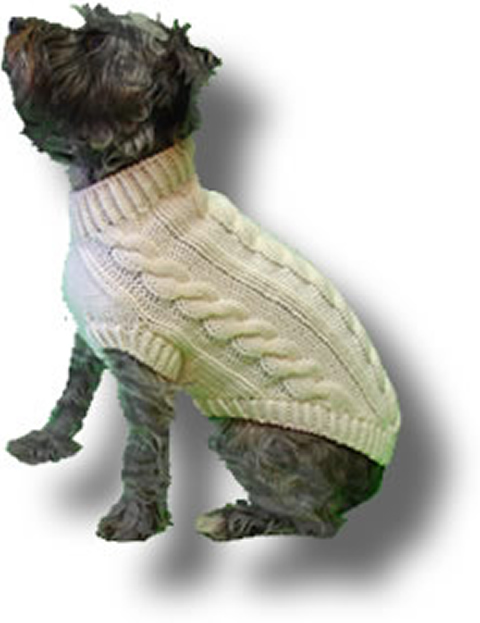 Original Knit Dog Sweater Patterns